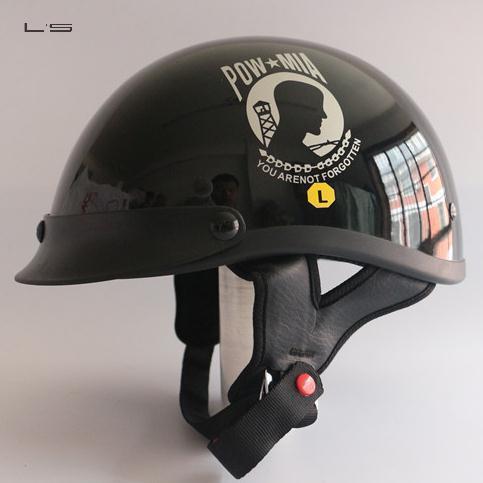 L's Professional Harley Style Motorcycle Helmet DOT approved Half Face motorbike helmet Chopper bike Headgears(China (Mainland))
