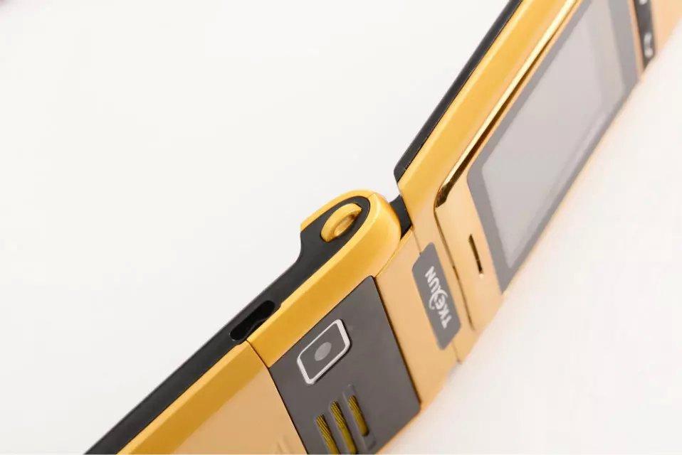 tkexun f666 женщин флип телефон с камерой bluetooth dual sim карты 2,8-дюймовый сенсорный экран роскоши сотовый телефон