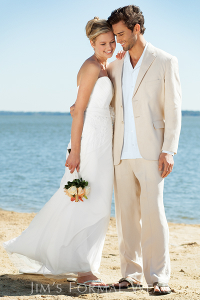 Ivory Linen Suits Beach Wedding Suits For Men Tailored ...