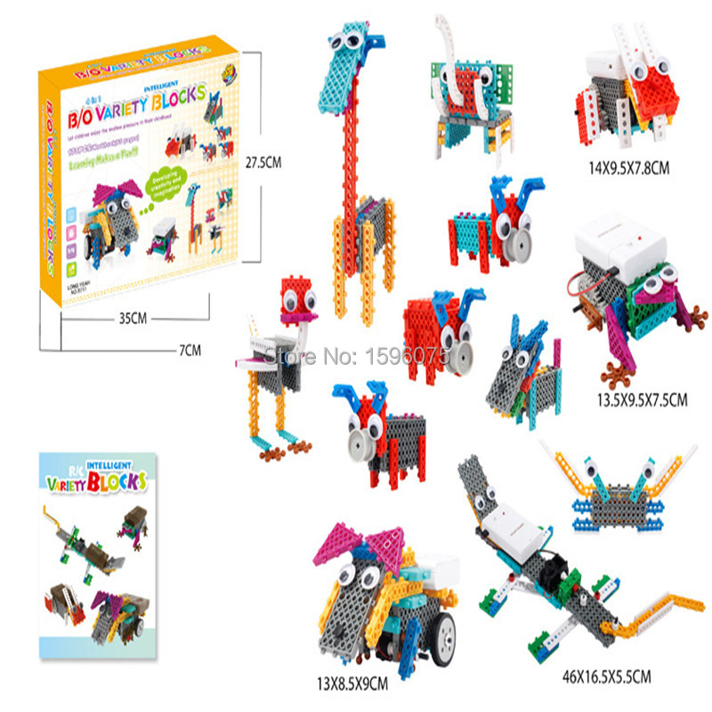 12in1 Changable DIY Elcecttic remote control robot toys blocks kit for kids children educational intelligence robot animal toys <br><br>Aliexpress