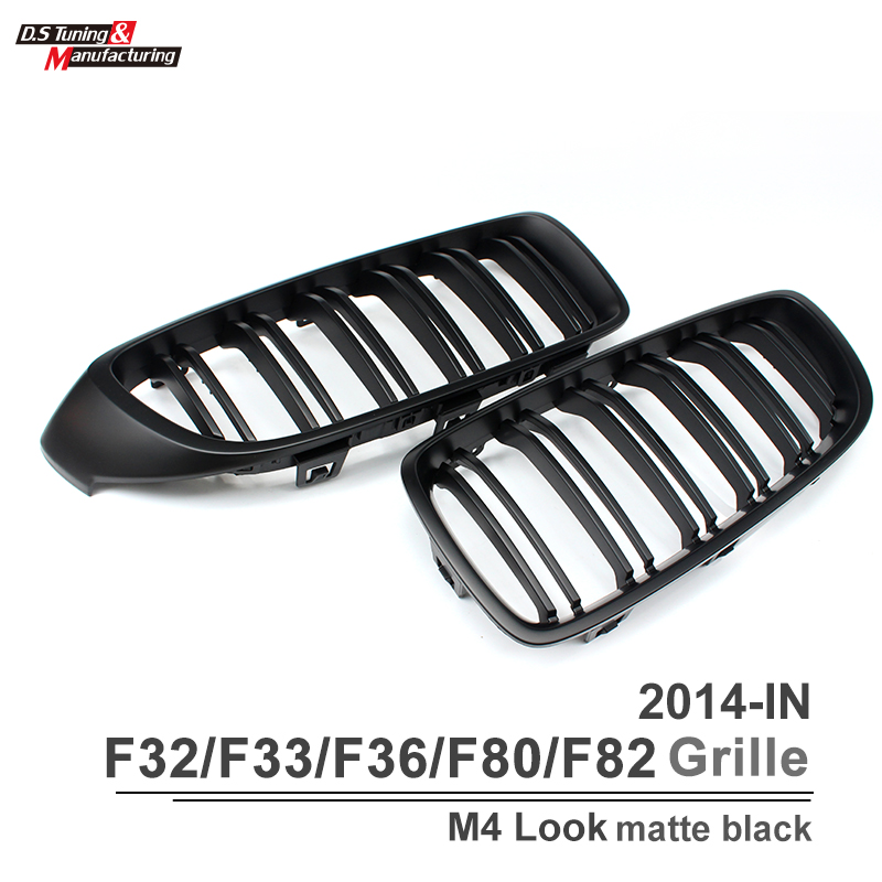 Replacement part for bmw 4 series f32 coupe f33 f36 M3 f80 M4 f82 dual slat front kidney mesh grill 420i 428i 435i 2014 2015 16(China (Mainland))