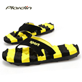 Plardin 2016 Bumblebee Men Flip Flops Authentic Massage Men s Beach Flip Flops Shoes Man For