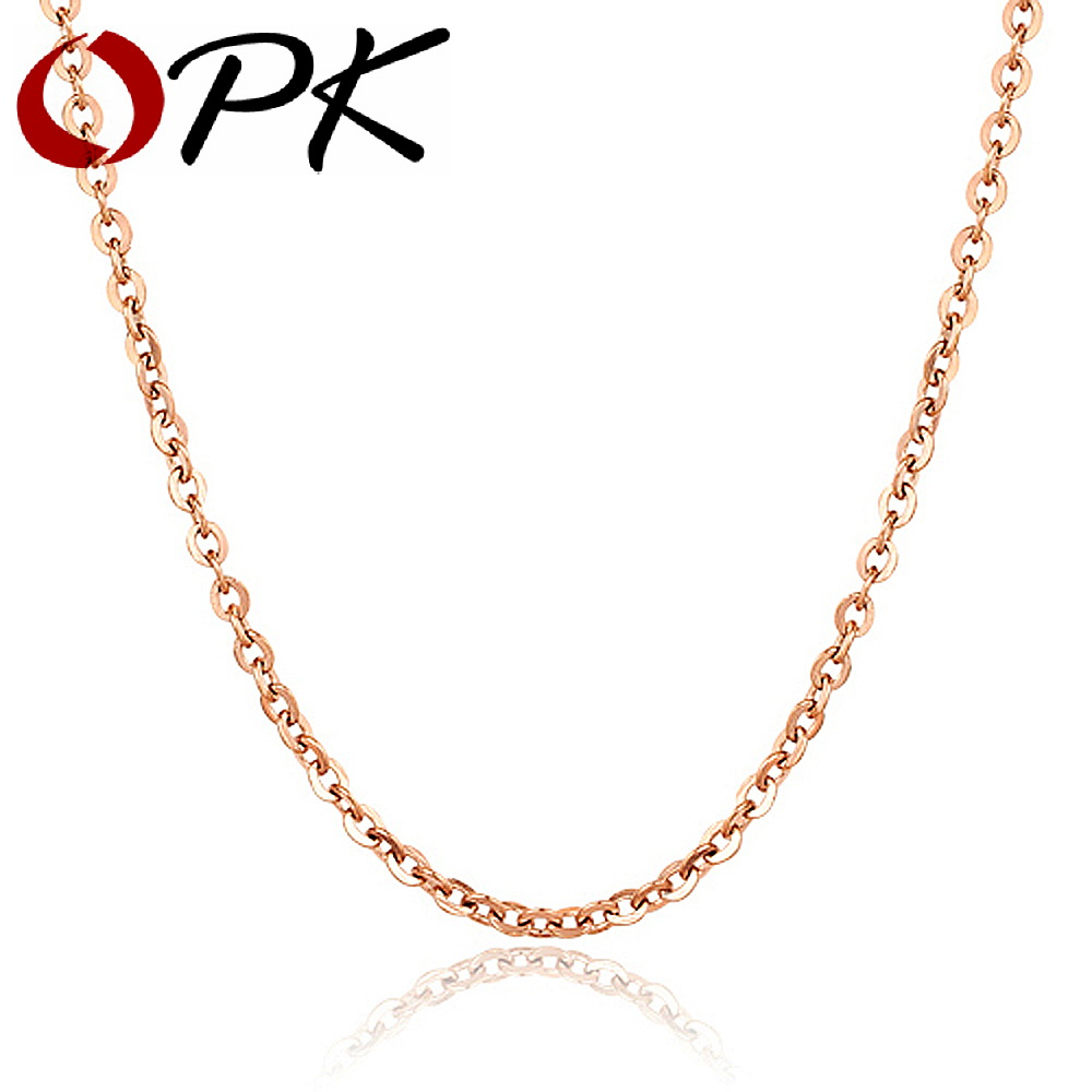 opk jewelry wholesale gold plated chain necklace 16 inch