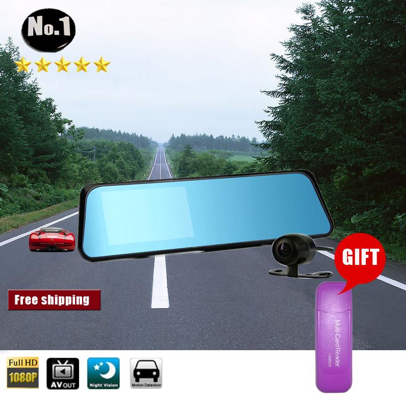 Free gift Multi-Card Reader wholesale car dvr Camera Recorder Super wide angle hd 1920*1080p night vision Dual Lens FREESHIPPING(China (Mainland))