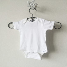 Newborn/Infant/Toddler Bodysuits 0-24M White Color 100% Cotton Baby Boy & Girl Short Sleeve Summer Cloth Macaco-nascidos