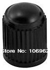 100 pcs/lot Black Plastic Tire Valve Cap Car Tyre Valve Stem Cover 8V1 Threads Retail & Wholesale China Post free shipping(China (Mainland))