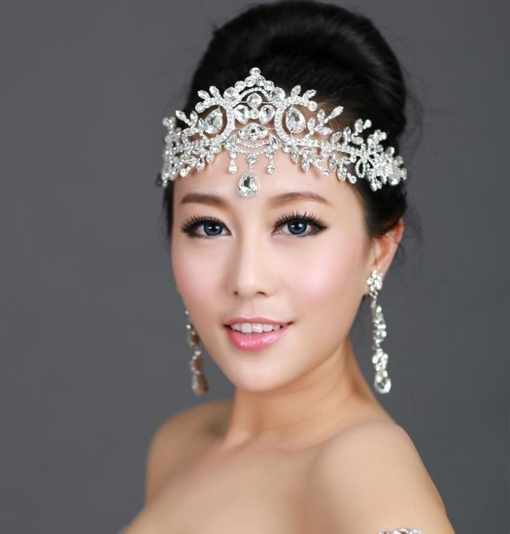 Aliexpress.com  Buy Bride Tiara Head Chain Hair Jewelry Wedding Hair Accessories Bridal ...