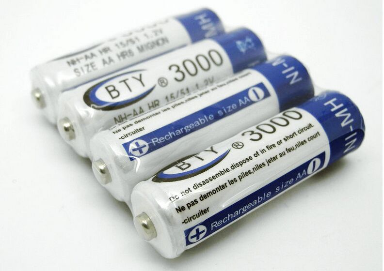Fast Shipping, Best Rechargeable Battery AA 3000mAh 4 X BTY NI-MH 1.2V Rechargeable aa battery rechargeable batteries 2015(China (Mainland))