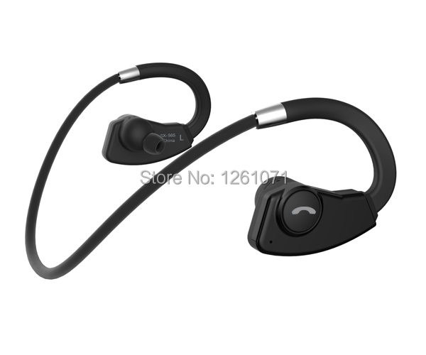 2015 Fashion Sports Bluetooth headphones SX-985 Neckband wireless headset incoming voice prompt CSR 4.0 in ear earphones(China (Mainland))