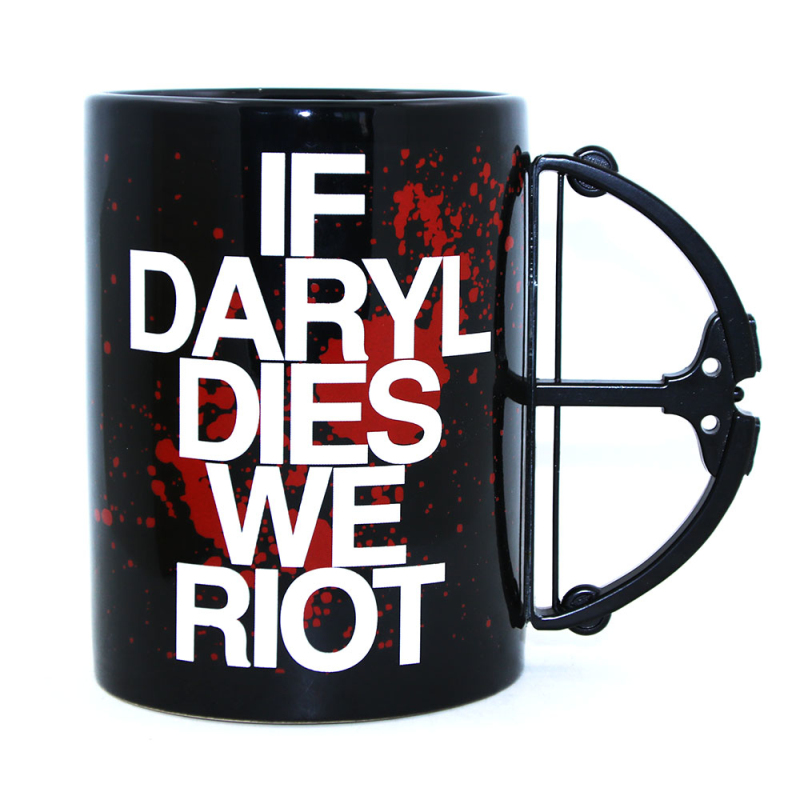 Free 1Piece Daryl Dixon Daryl Dies Riot Crossbow Porcelain Coffee Mug Crossbow Handle Blood Cup