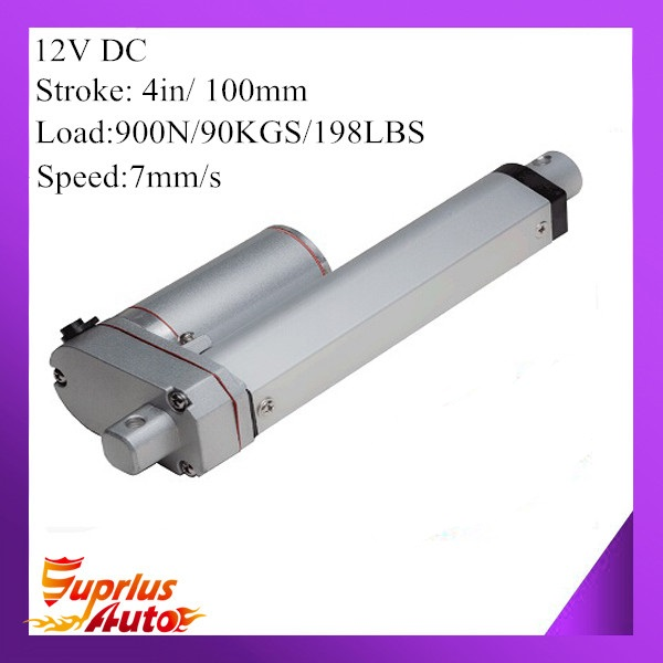 12V 100mm 4inch adjustable stroke 900N 198LBS load 7mm/s 0.28inch/s speed mini industry heavy duty linear actuator SL14 hot sell(China (Mainland))