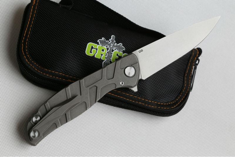 Купить Зеленый шип F95 Флиппер 95 складной нож подшипник Титана углерода волокна или G10 справиться открытый отдых на природе охота карманный нож EDC инструменты