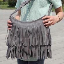 2015 New Fashion Tassel Shoulder Bag Women s Hot Sale Suede Fringe Handbags Messenger Bags E2shopping