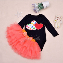 Baby Girl Clothing Sets Black Bodysuit jumpsuits Girls Pettiskirt Set Pink Princess Tutu Skirt Headband  Newborn Clothes(China (Mainland))