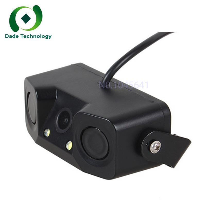 CCD HD color waterproof Car Parking Reversing Radar Rear View Backup Camera Universal with Buzzer Warning Night Vision LED light(China (Mainland))