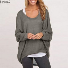 2016 Spring Autumn Women Sweater Jumper Pullover Batwing Long Sleeve Casual Loose Solid Blouse Shirt Top Plus Femininas Blusas(China (Mainland))