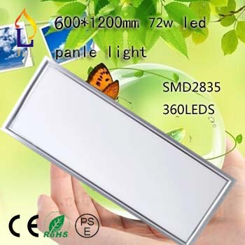 2pcs/lot 72W 1200*600mm Led wall panel Light Warm White /Cool White AC85-265V 120*60cm ceiling light(China (Mainland))
