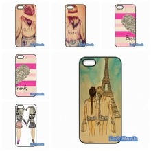 Happy Best Friend Card BFF Phone Cases Cover Blackberry Z10 Q10 HTC Desire 816 820 One X S M7 M8 M9 A9 Plus - Left Bank store