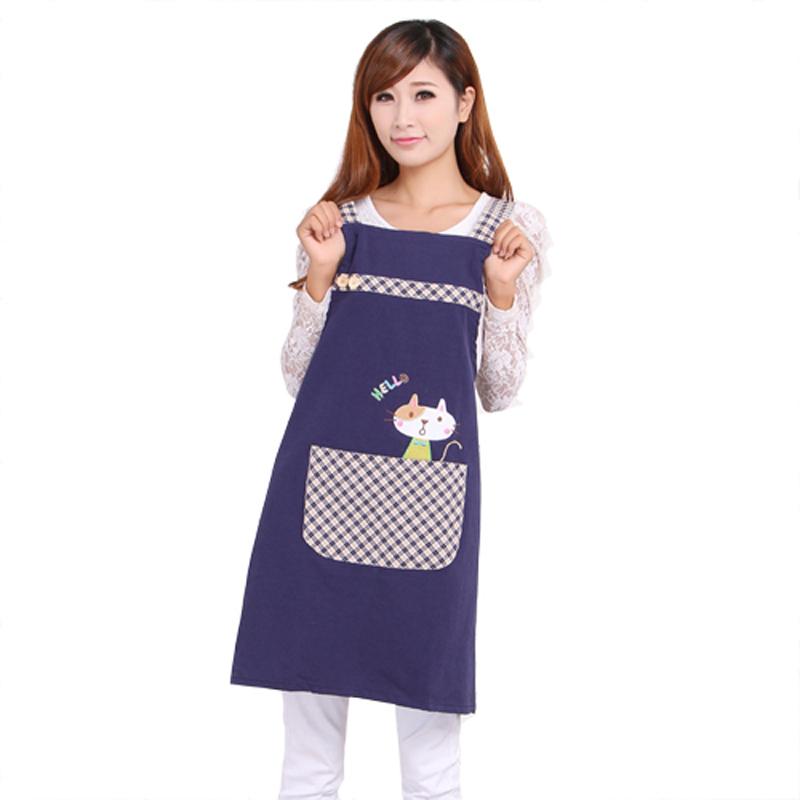 Hot Sale Cute Cat Japan Korean fashion princess tea garden apron women lady cotton overall aprons(China (Mainland))