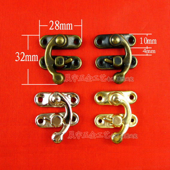 A026 trumpet horn hook bag hook fastener hardware accessories decorative boxes gift box buckle