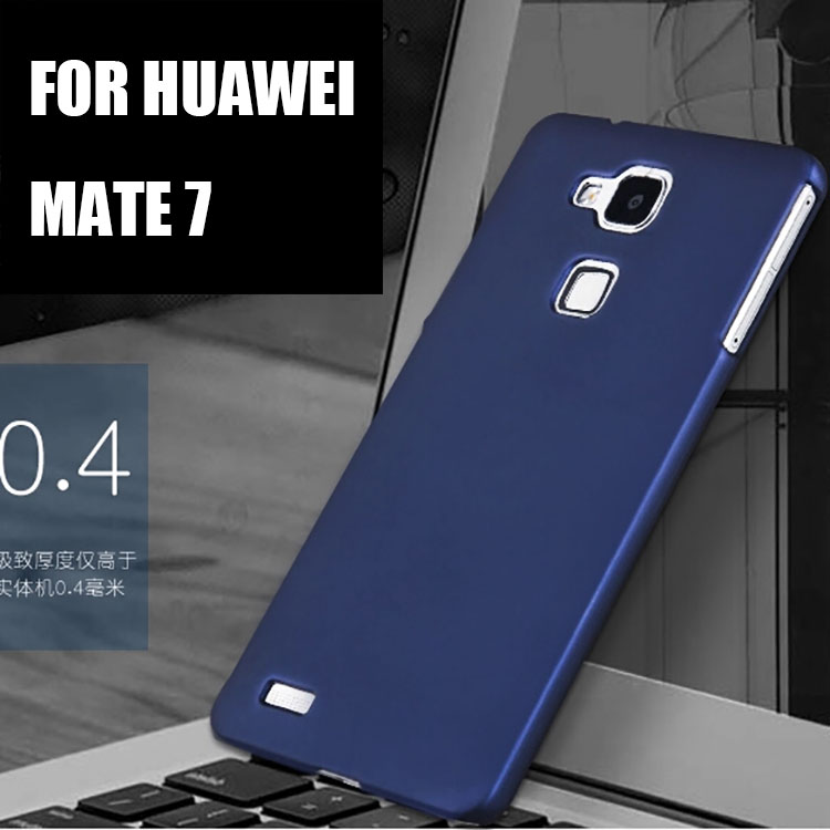 Huawei Mate 7 Case , Silicone colorful hard Original DSP Brand Super Frosted Shield Back Cover Case For Huawei Ascend Mate7(China (Mainland))