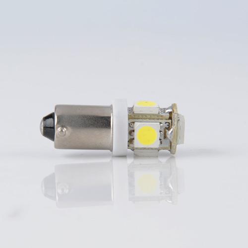 2 x BA9S 5 SMD Pure White CANBUS Error Free Interior Car H6W 5 LED Light