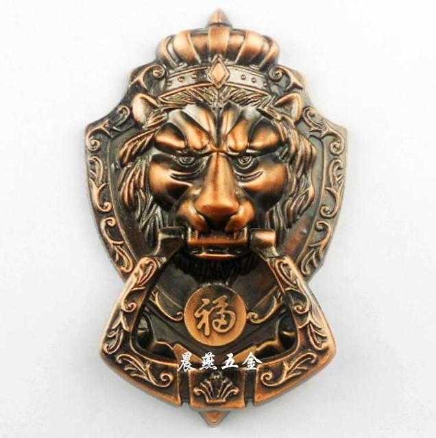 Antique Chinese lion head door knocker handle Shoutou 17.5cm free shipping