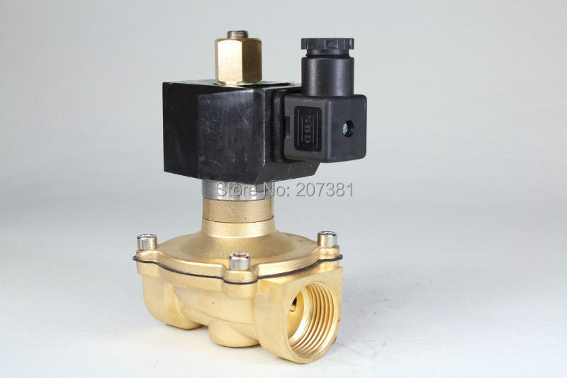 "free shipping Electric Solenoid Valve Water Air N/O 12V DC 1"" Normally Open Type 2W250-25(China (Mainland))"