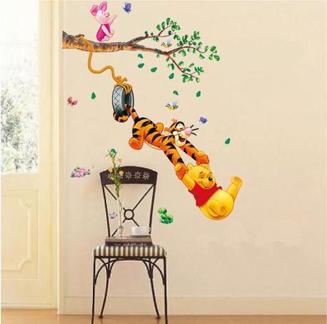Cartoon Vinyl Wall Stickers For Kids Rooms Children Bedroom Wall
