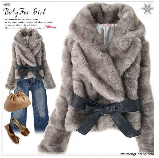 Free shipping wholesale noble woman short coat rabbit