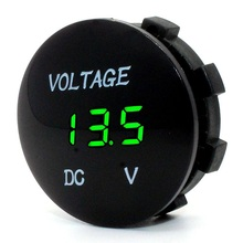 Waterproof LED Digital Display Voltmeter 12-24V DC for Car Motorcycle Boat Marine Truck Rv ATV - Green LED(China (Mainland))