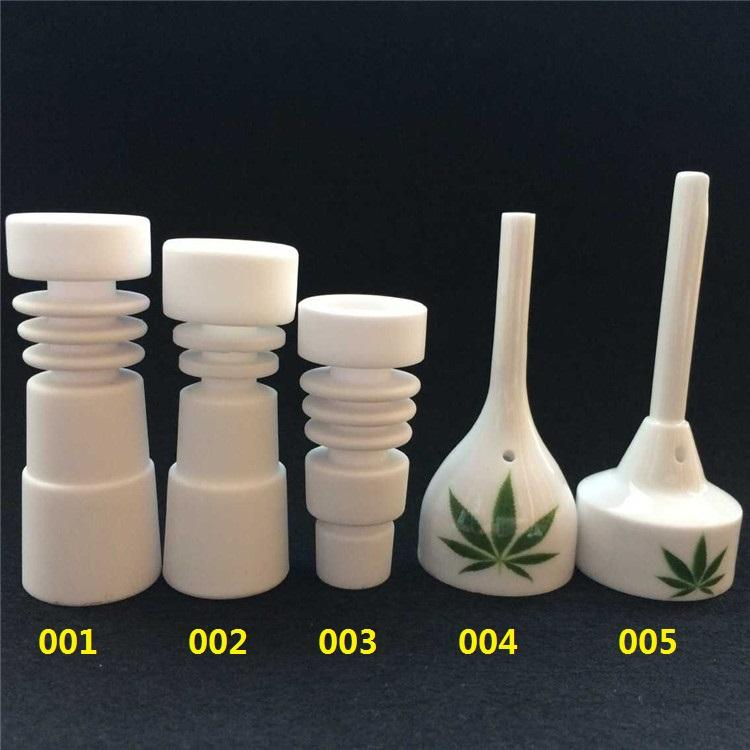 14mm 18mm domeless Ceramic Nails Male & Female joint Ceramic carb cap ceramic nail(China (Mainland))