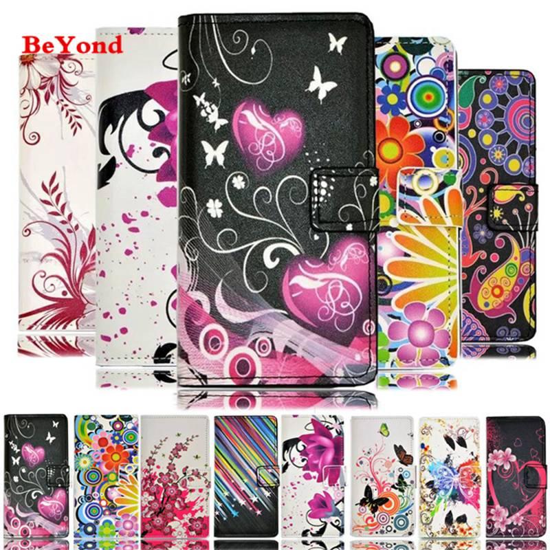 Luxury Flower Pattern Leather Wallet Flip Cover Case LG G2 G3 G4 Mini D680 D690 V10 K10 K5 K7 Grand Prime Shell