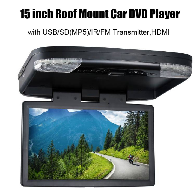 15 inch Roof Mount Car DVD Player with USB/SD(MP5)/IR/FM Transmitter, HDMI(China (Mainland))