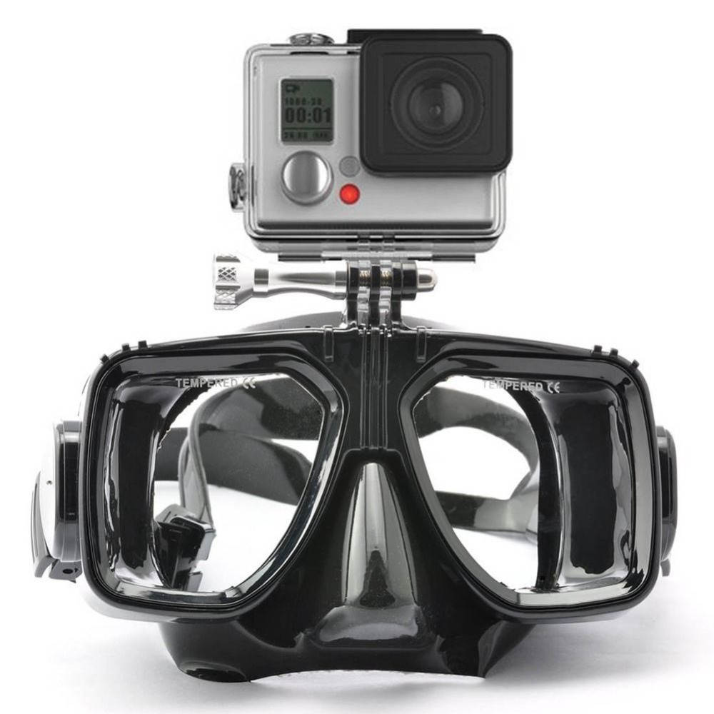 scuba diving mask with camera attaching module free shipping worldwide. Black Bedroom Furniture Sets. Home Design Ideas