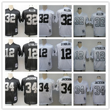 Men's #32 Marcus Allen #12 Kenny Stabler #34 Bo Jackson Throwback Retro Jerseys!(China (Mainland))