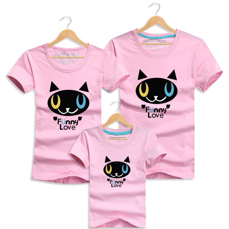 Cute Little Cat T Shirt Summer font b Family b font Look font b Matching b