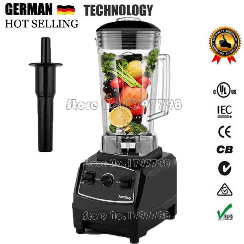 Фотография BPA Free 3HP 2200W Heavy Duty Commercial Blender Mixer Juicer High Power Food Processor Ice Smoothie Bar Fruit Electric Blender