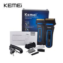 Kemei KM-2016 мужская Беспроводная Электрическая Бритва Триммер Аккумуляторная Сабельная Двухместный Грумер Мокрой и Сухой Использования(China (Mainland))