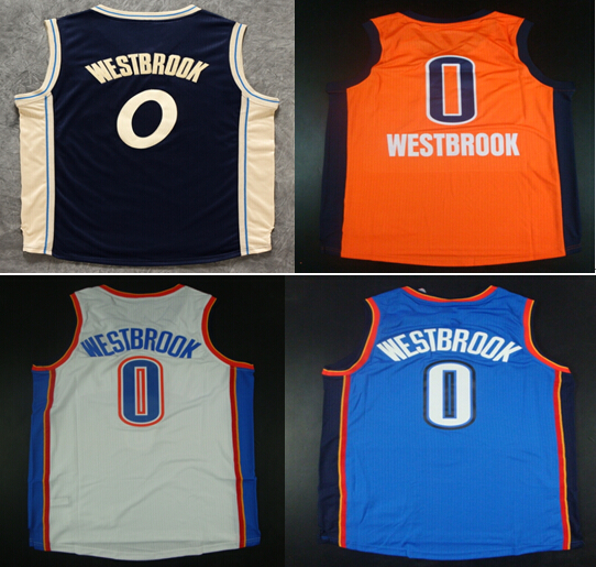 Cheap Sale #0 Russell Westbrook 2016 Christmas Jerseys Embroidery Logo Russell Westbrook Mens Home/Road Basketball Jerseys(China (Mainland))