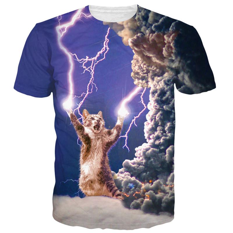 Harajuku style Unisex Women/Men Thundercats t shirt cat/lightning thunder t-shirt summer fashion 3d t shirt mens cats tee shirs(China (Mainland))