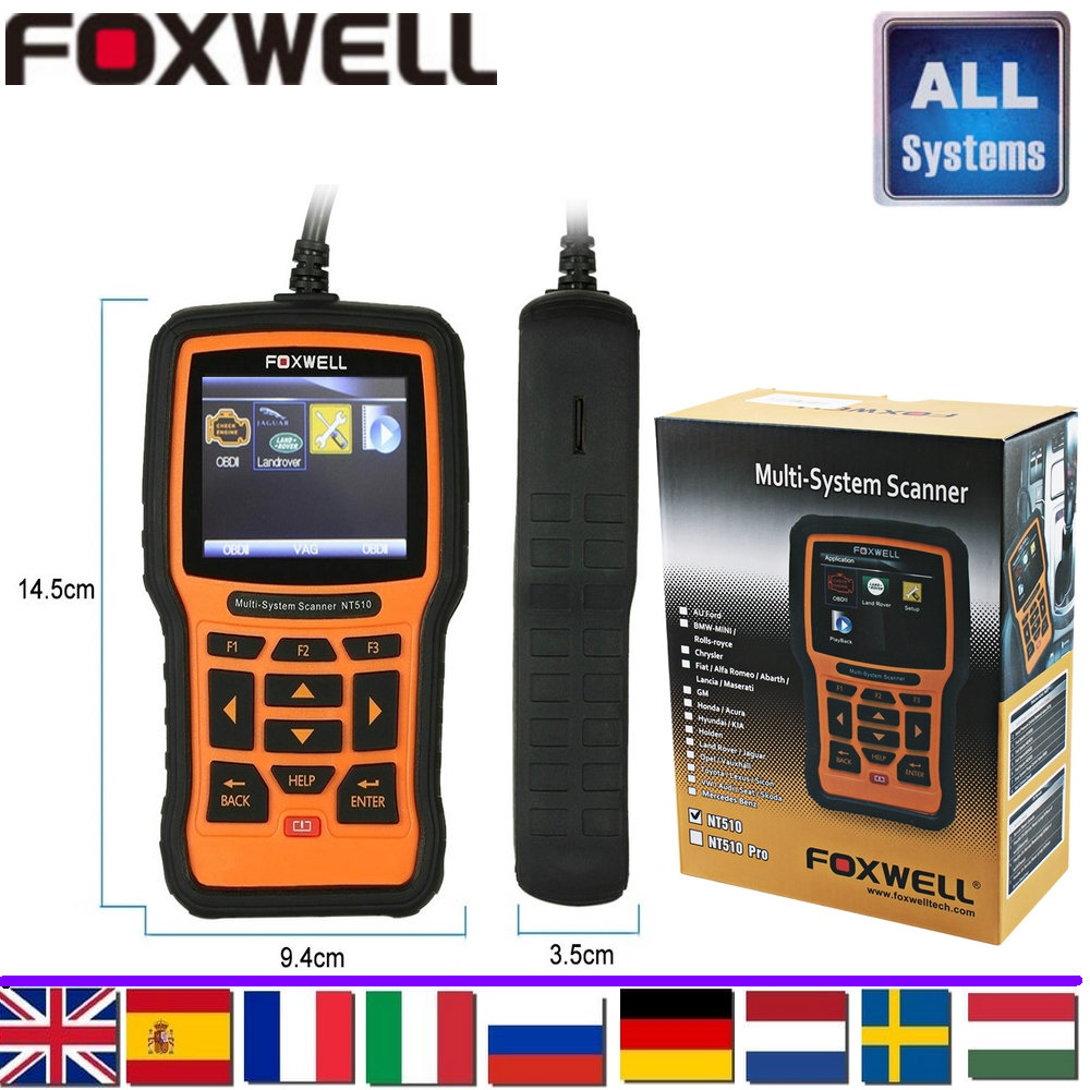 diagnostic-tool FOXWELL NT510 full-system Scanner fit for BMW fit for Scanner Code Reader Scanner Read and Clear Trouble Codes(China (Mainland))