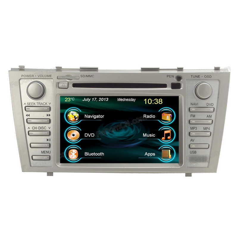 DVD CAR audio navigation system car dvd player C7001TC gps Toyota Camry bluetooth built-in - Cartouch Entertainment store