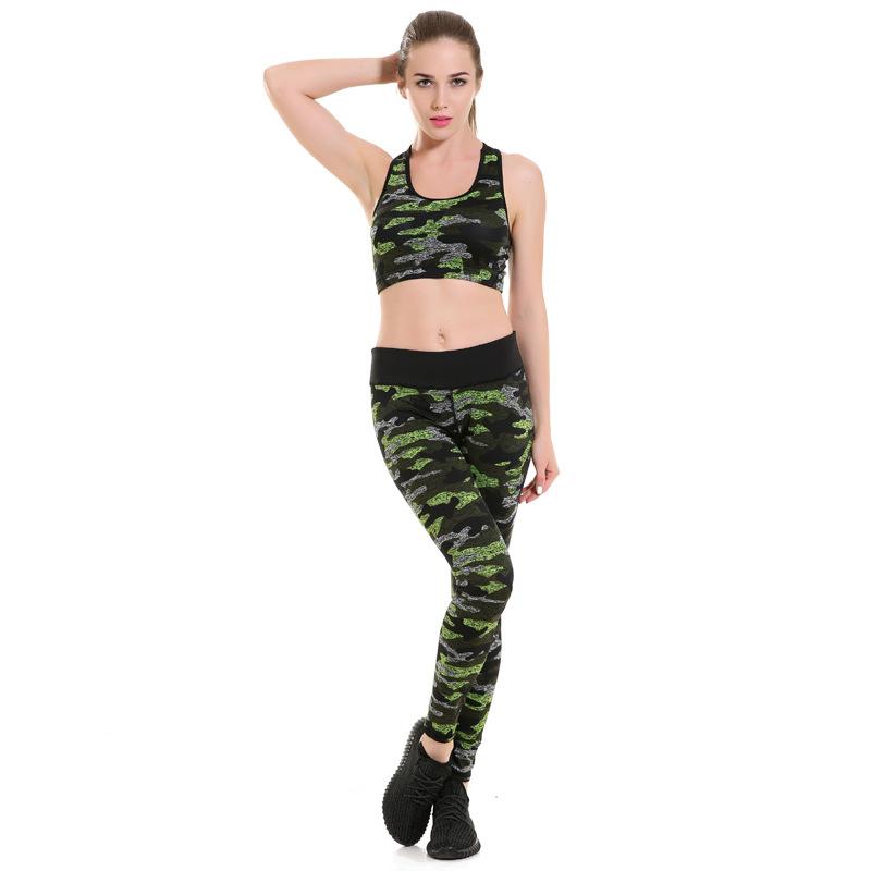 Female Exercise Sports Fitness Leggings Camouflage Print Women Yoga Pants Fitness Sports Pants Female Slim Leggings YG003(China (Mainland))