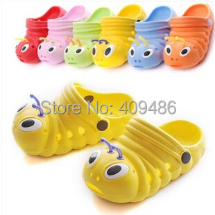 2014 Kids Summer garden shoes Children baby eva hole sandals slides slippers for boys girls 3M-9yrs Flip Flops