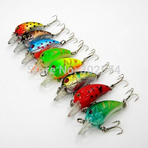 Гаджет  New 8 Colors Fishing Lures 4.5cm-4.2G isca artificial hard crank bait wobblers fishing tackle lure crankbait pesca free shipping None Спорт и развлечения