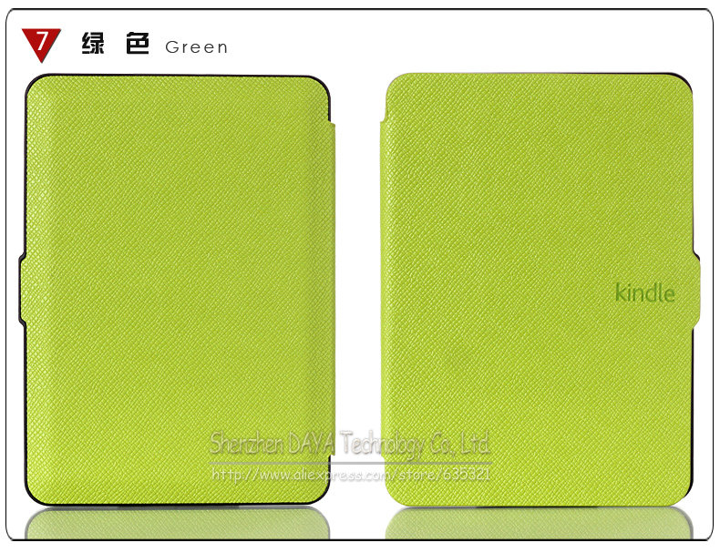 New Kindle 7th Generation leather Case Smart Cover with Sleep and wake up for Amazon 2014 New kindle 6 inch Free Shipping