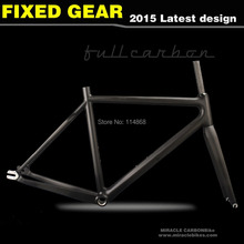 Miracle Bike Hot Sale Carbon Fixed Bike Frame Fixed Gear Single Speed Bicycle Frame(China (Mainland))