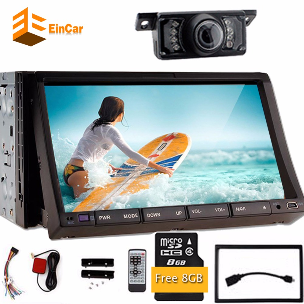 7 inch TV double 2Din In Dash 2din Car DVD Player built-in GPS/Bluetooth Navigation Radio iPod Bluetooth+Backup Camera+analog TV(China (Mainland))