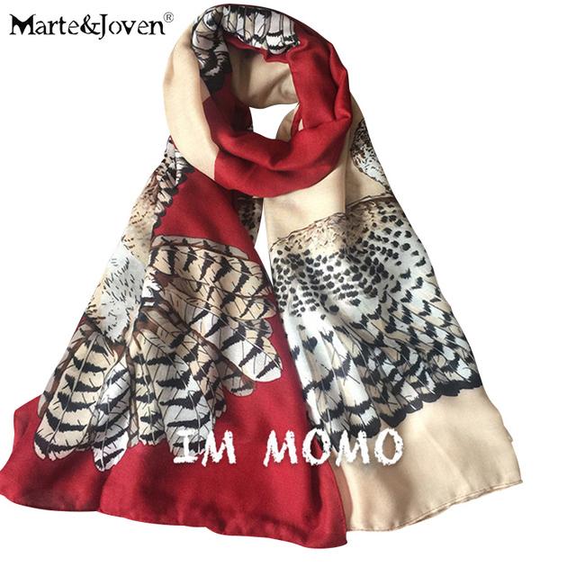 Горячая распродажа сова отпечатано шарфы дамы свободного покроя all-матч платки мода ...
